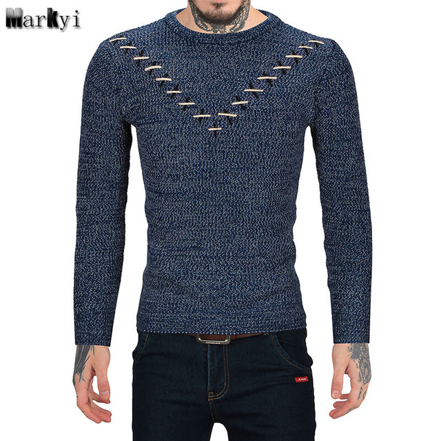Markyi 2017 New Winter Mens Sweaters Pullover Men Casual Good