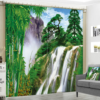 Different Places Outdoor Nature Landscape Printing 3D High-precision Shade Curtain For Living Room or Hotel Drapes Cortians
