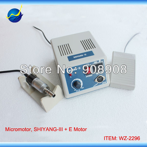 110V / 220V 35000 RPM SHIYANG-III Micromotor Grinder Machine with M33Es E-Type Motor & Handpiece shiyang iii hand grinder power engine sde l102s handpiece 35k r m micromotor n3 dental lab jewelry stone nail file carving