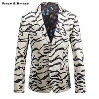 In stile americano di stampa del leopardo tendenza moda wash and wear giacca masculino Autunno & Inverno 2017 New top quality giacca sportiva degli uomini M-3XL