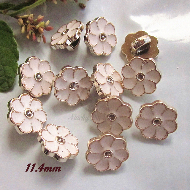 144pcs 11mm Square foot White Epoxy flower sewing buttons weding decoration  clothing diy craft decorative materials wholesale 12adafc79a79
