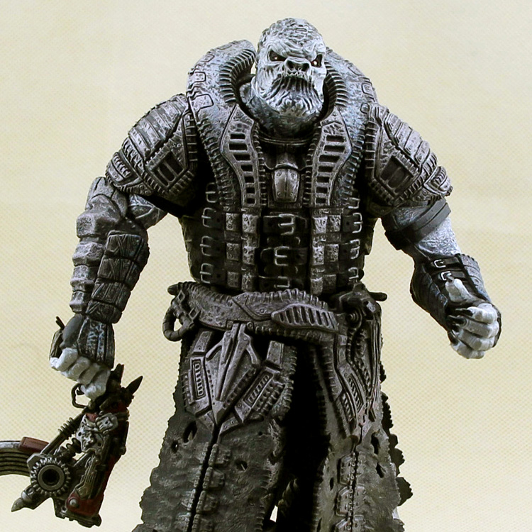 Free shipping NECA Gears of War GoW Locust General Raam 7 Loose Figure Rare Toy The spot майка классическая printio gears of war 2