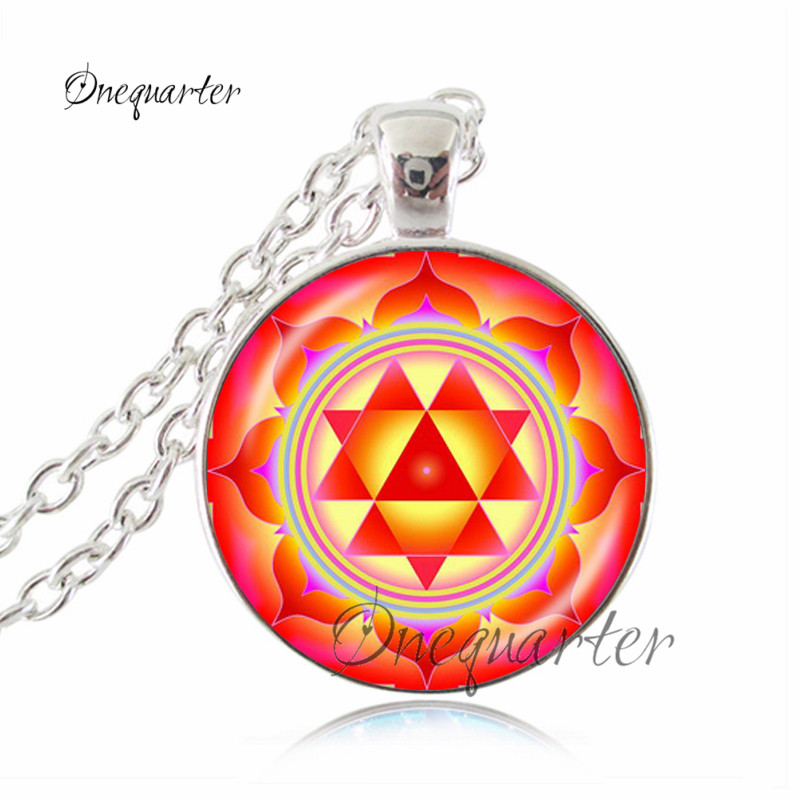 Dharma Wheel Necklace Vintage Buddhist Wheel Chakra Pendant Art Photo Buddhist Spiritual Necklace Sacred Geometry Jewelry Gifts