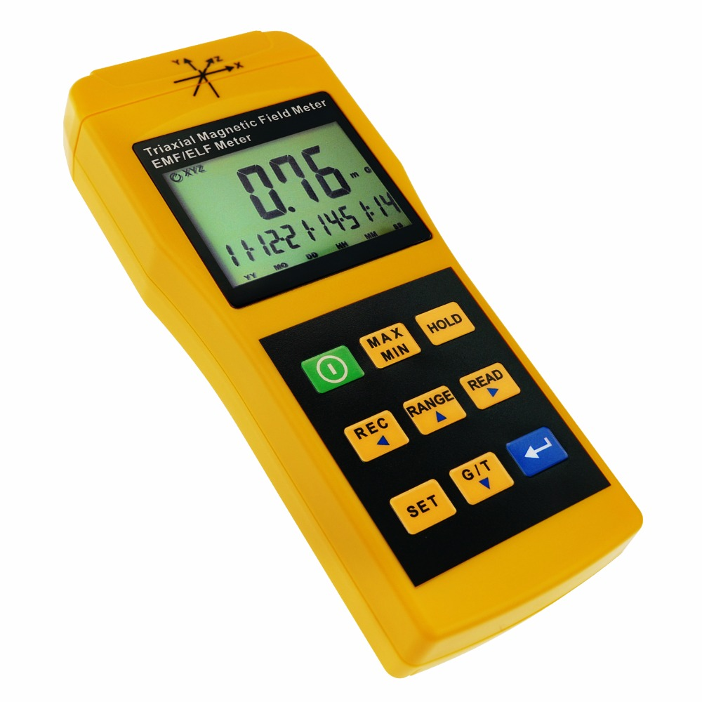 Tri-Axis Sensor EMF ELF Meter Frequency Magnetic Field Gauss 2000mG Taiwan Made Tester Gaussmeter цена