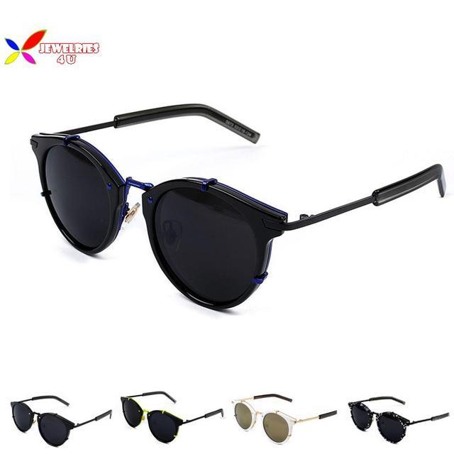 Nueva caliente 2015 negro marco redondo gafas de lentes de moda ...