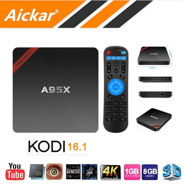 Newest Nexbox A95X Amlogic S905X TV Box Android 6.0 Max 2G/16G Quad Core 2.4G WIFI KODI IPTV Smart TV Box Android Media Player