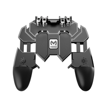 Mobile PUBG Controller Turnover Button Gamepad for PUBG IOS Android Six 6 Finger Operating Gamepad Peripherals PUBG Controller pubg controller for games android ios gamepad shortcut button game assisted shooting handle peripheral pubg controller