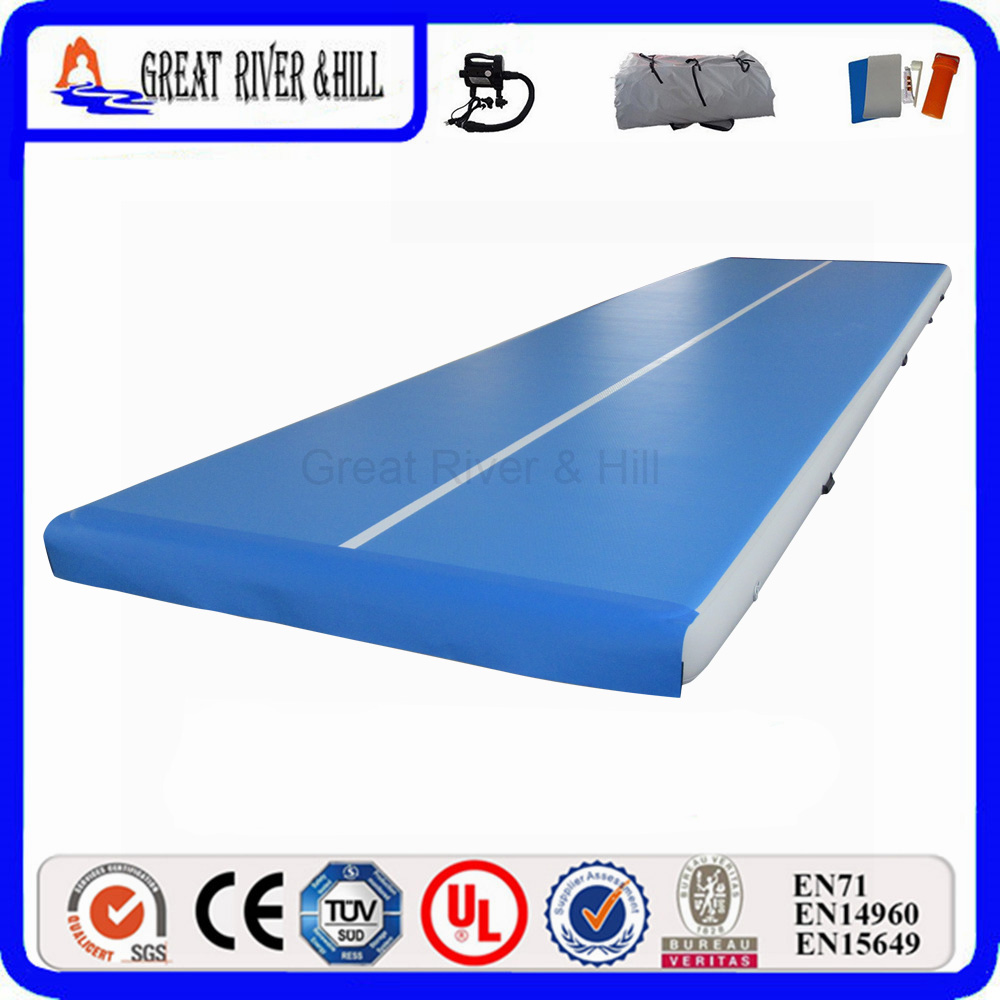 Great River Hill Inflatable Air Floor Training Used For Fitness Training Mat With Competitive Price 10m x 1.8m x 0.15m