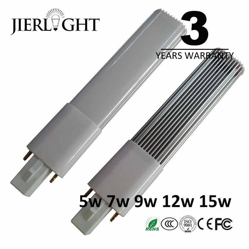 G23 Светодиодная лампа 5 Вт, 7 Вт, 9 Вт, 12 Вт, 15 Вт g23 светильники пробки с 3-летней гарантией CFL замена Lampara хорошее качество led свет g23