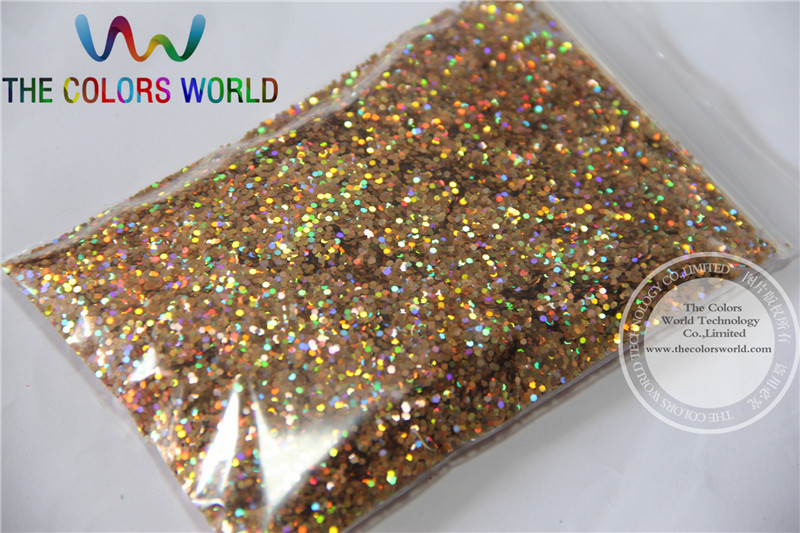 TCA201 Laser Red Gold Color Hexagon Shape 1.0MM Size Glitter Powder,Holographic Glitter for nail or Other Decoration 50gimported solvent resistant laser gold onion powder sequins ultra thin super flash car color changing nail dressing 0 2 0 4mm