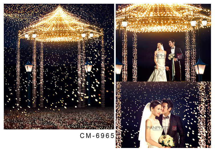 8x8ft Custom Photography Backgrounds Studio Backdrops: 10x10FT Indoor Gold Glitter Arch Booth Pavilion Street