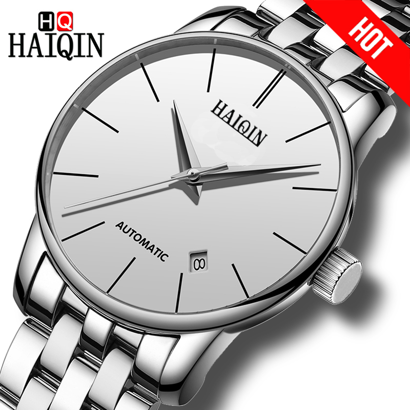 HAIQIN Mens watches Top brand Automatic Mechanical luxury Men Watch Business Watch men Tourbillon Waterproof Male