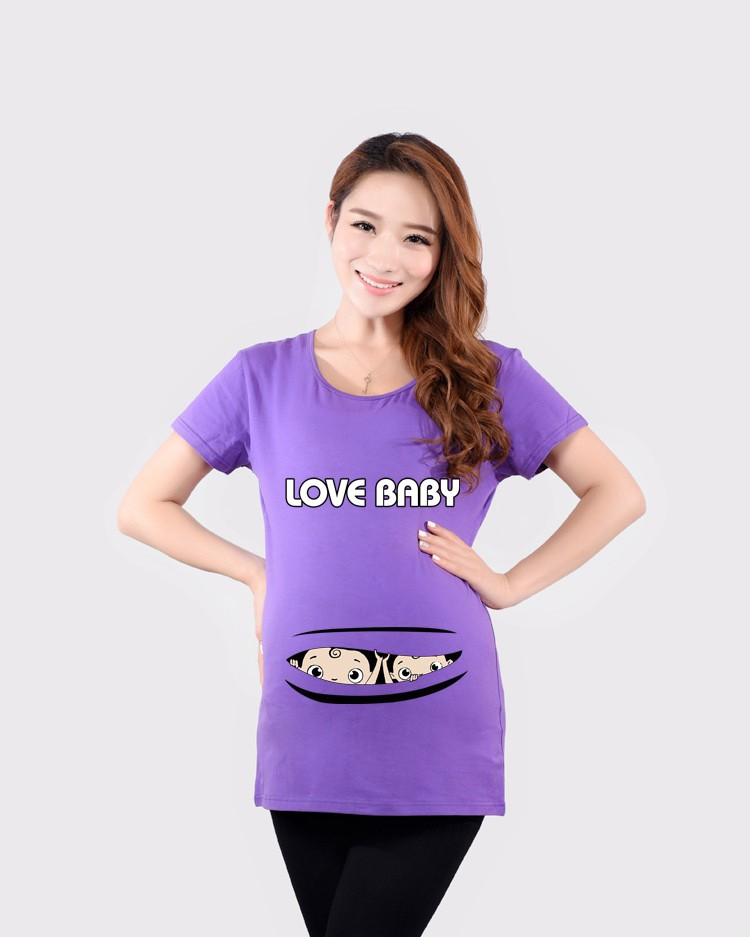 9c3c1d41 Quality maternity tops with baby peeking out cotton funny maternity ...