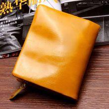Oil Shine Genuine Leather Women Wallet Purse Super Large Capacity Zipper Design Coin Pocket Money Bag Credit Card Slot For Woman