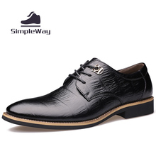 Men casual shoes luxury genuine leather business formal party wedding dress brogues oxfords derby shoes for men zapatos hombre