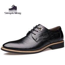 Männer freizeitschuhe luxus echtem leder business formale hochzeit kleid brogues oxfords derby schuhe für männer zapatos hombre