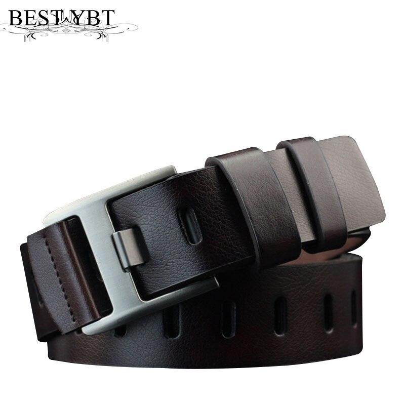 Best YBT Men Imitation leather   Belt   personality Alloy wide Pin buckle retro   Belt   Selling men casual fashion cowboy pants   Belt