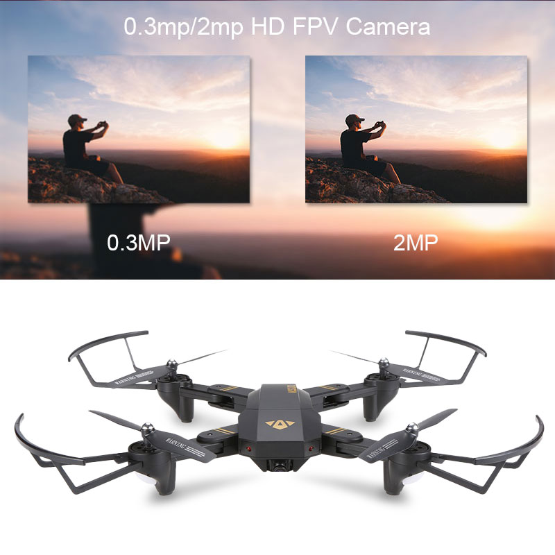 Visuo XS809W XS809HW quadrirotor Mini Pliable Drone selfie avec Wifi FPV 0.3MP/2MP CAMÉRA Maintien D'altitude RC Dron Vs JJRC h47 E58 - 5
