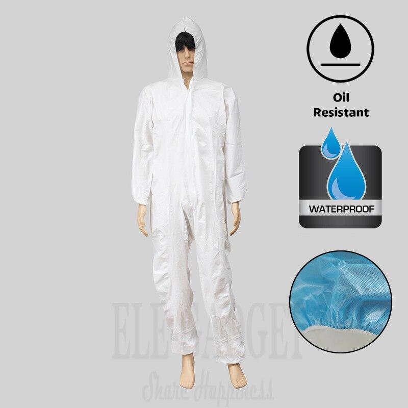 GemäßIgt Einweg Wasserdicht Öl-beständig Schutzanzug Für Spary Malerei Dekorieren Kleidung Insgesamt Anzug L/xl/xxl/ Xxxl
