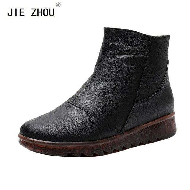 0dcf1f598 Botas de tobillo de mujer nueva moda impermeable cuña plataforma invierno  botas de nieve calientes zapatos