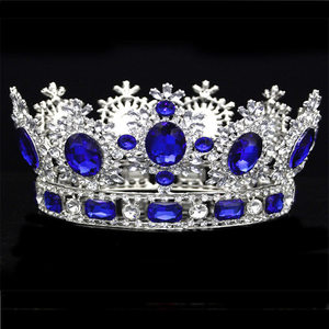 Image 4 - Luxuries Crystal flower Tiara Crown Headdress Prom Queen King crown for Wedding Tiaras and Crowns Hair jewelry Accessories