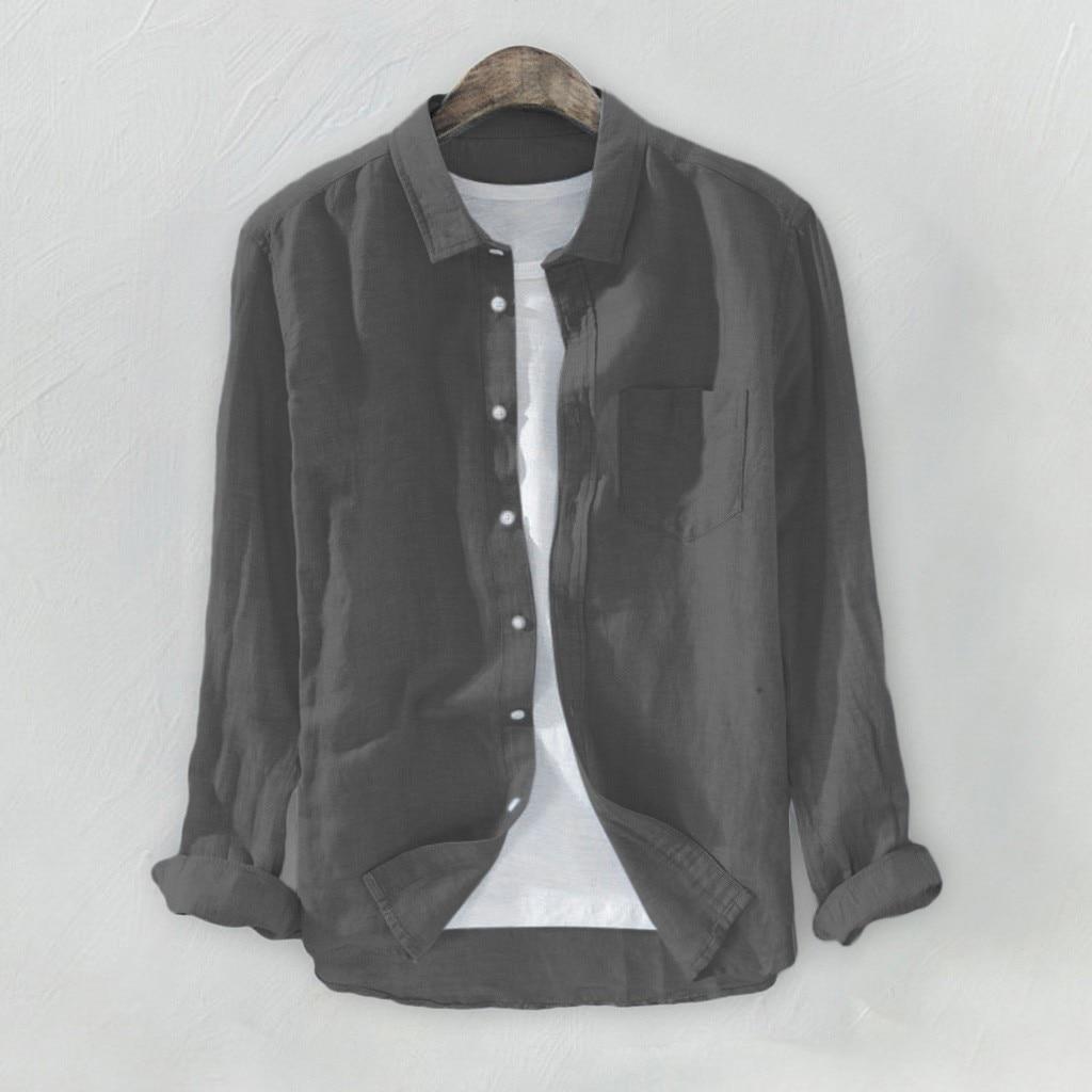 YanHoo Oto/ño e Invierno de 2018 Delgado y Guapo Manga Larga para Hombre Oxford Trajes Formales Casuales Slim Fit tee Camisas de Vestir Blusa Top Tendencia
