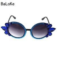 Fashion Baroque Sunglasses Women 2017 Decorative Rhinestone Luxury Brand Design Glasses Oversized Frame Eyewear Clear Lens
