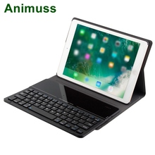 Animuss Detachable Bluetooth Keyboard Flip Folding Tablet Cover For iPad air /air2/pro 9.7/new 9.7 Case