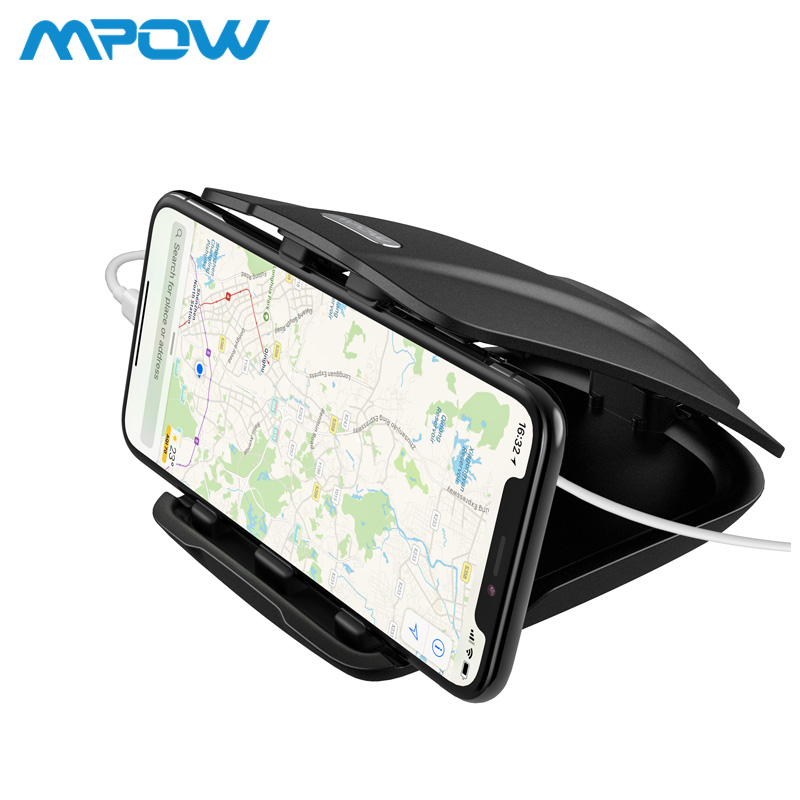 Mpow CA090 Car GPS Phone Holder Stable Desk Holder With Three Slots Multiple Angles For iPhone Xs 8 7 Plus Tablet Huawei Xiaomi