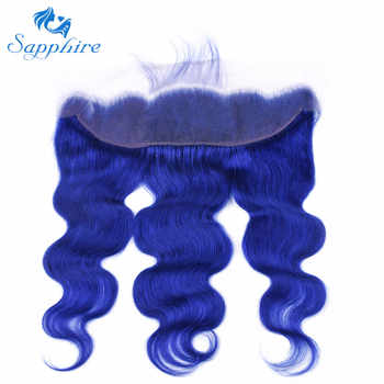 Sapphire Hair Human Hair Bundles หน้าผากลูกไม้ปิด Body wave ผม 3 มนุษย์ 13*4 หน้าผากลูกไม้