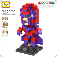 LOZ Blocks Diamond Building Toys For Boys Educational Magneto Action Figure Anime Super Heroes X-Man DIY Minifigs Nanoblock 9460