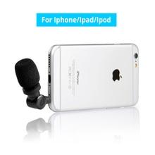 TRRS Saramonic i-Mic Professional mini portátil Condensador Entrevista Microfone do smartphone para o iphone iPad iPod Touch