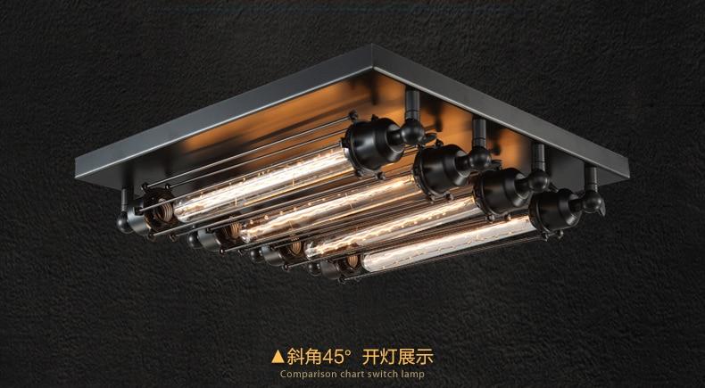 Plafoniere Industriali A Led : Luce di soffitto industriale lampadina edison retro luci
