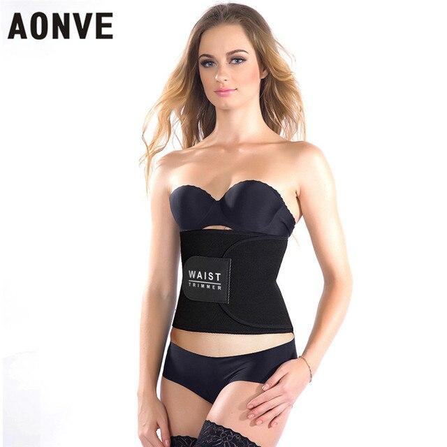 f657e9ba47 AONVE Slimming Belt Waist Trainer Modeling Strap Hot Shapers Fitness Corset  Binder Trans Slimming Belt Belly