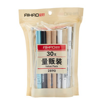 30pcs Set Value Pack Gel Pen Set Business And Simple Style Gel Pen Set Black Blue