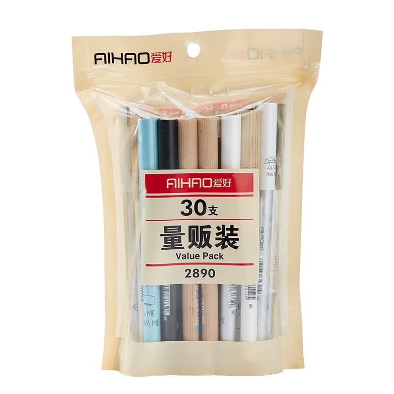 30pcs/set Value Pack Gel Pen Set , Business and Simple Style Gel Pen Set , Black & Blue Ink Refill Set 4 pack 30xl 30 xl black