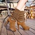 Moda Quente Sobre O Joelho botas de Neve Botas de Chuva das Mulheres Sapatos de Camurça Dedo Do Pé redondo Senhora Zíper de Pelúcia Inverno Manter Aquecido Pele De Salto Alto SYA-9