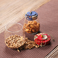 1pc Spices Storage Box Seal Jars Tea Canister Tea Cans Storage Bottle Mason Jar Spice Candy Jar Glass Kitchen Jars Accessories