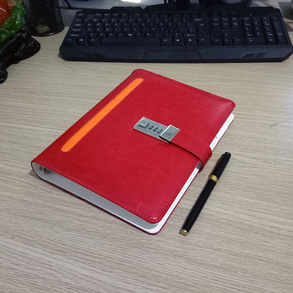 Nový kožený zápisník notebooku se zámkovým kódem - Bloky a záznamní knihy - Fotografie 5