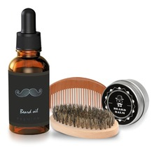 Breett Professional Beard Beauty Kit Beard Brush in Bristles Beard Comb in Pure Natrual Wood Beard Oil Sets
