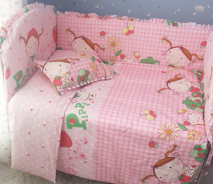 Promotion! 9PCS whole set cotton Crib bedding set curtain berco cot bumpers baby bedding crib sets ,120*60/120*70cm цены