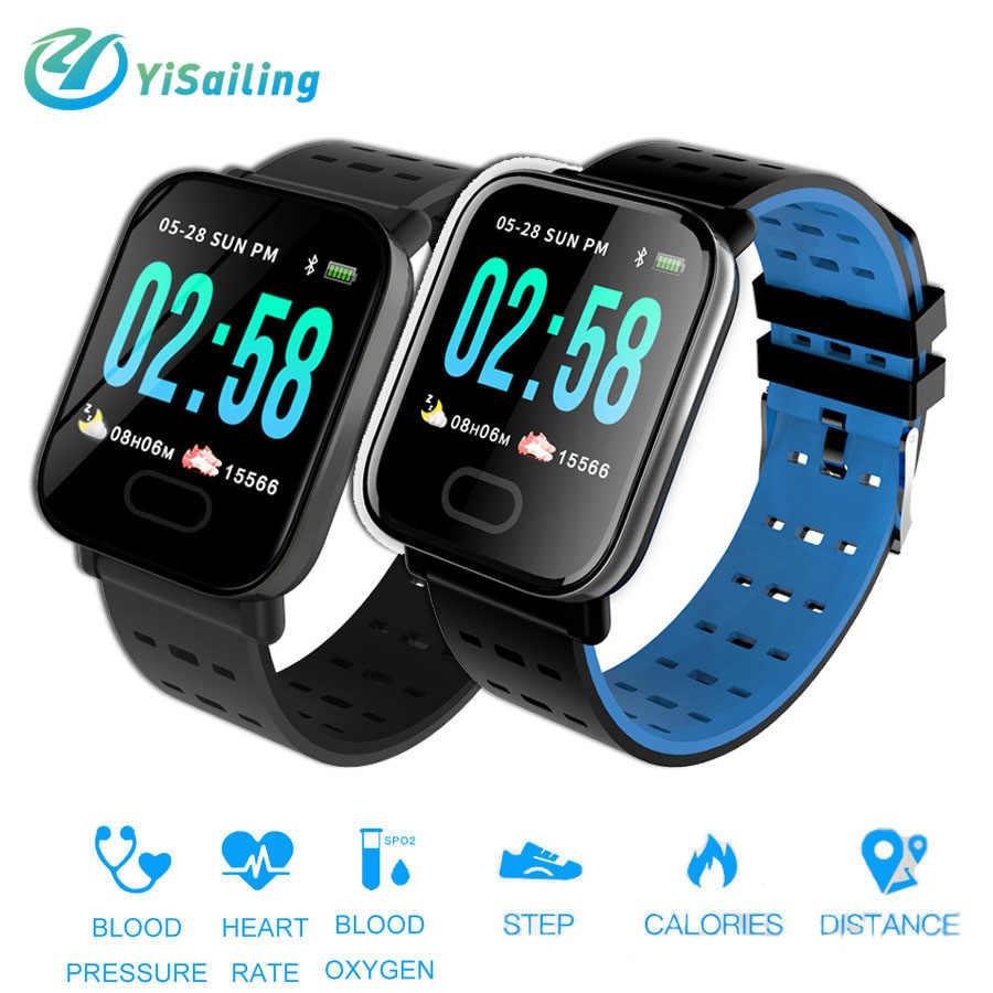 39eb0824724 Yisailing A6 Smart Watch Bracelet full screen Blood Pressure Heart Rate  Monitor Fitness Tracker Waterproof Sport