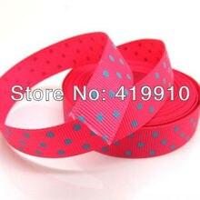 5 Yards Red Dot 16mm Wide Wedding Craft Printed Grosgrain Ribbon c27