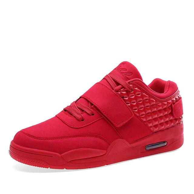 Nueva Moda High Top Calzado Casual Para Hombres de Cuero de LA PU Atan Para Arriba rojo Blanco Negro Color de Mens Casual Zapatos de Los Hombres de Alta Superior Zapatos Al Por Menor