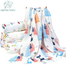 Muslin 100% Organic Cotton Baby Swaddles Soft Newborn Blankets Bath Gauze Infant Wrap sleepsack Stroller Cover Play Mat puseky 1pc muslin 100% cotton baby swaddles soft newborn blankets bath gauze infant wrap sleepsack stroller cover play mat 120cm