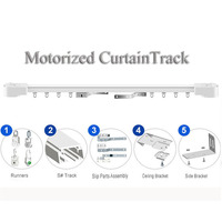 Dooya Electric Super Quiet Motorizedcurtainrail Motorized Curtain Rail Double Track Remote Control Curtain Motor TrackSmart Hom