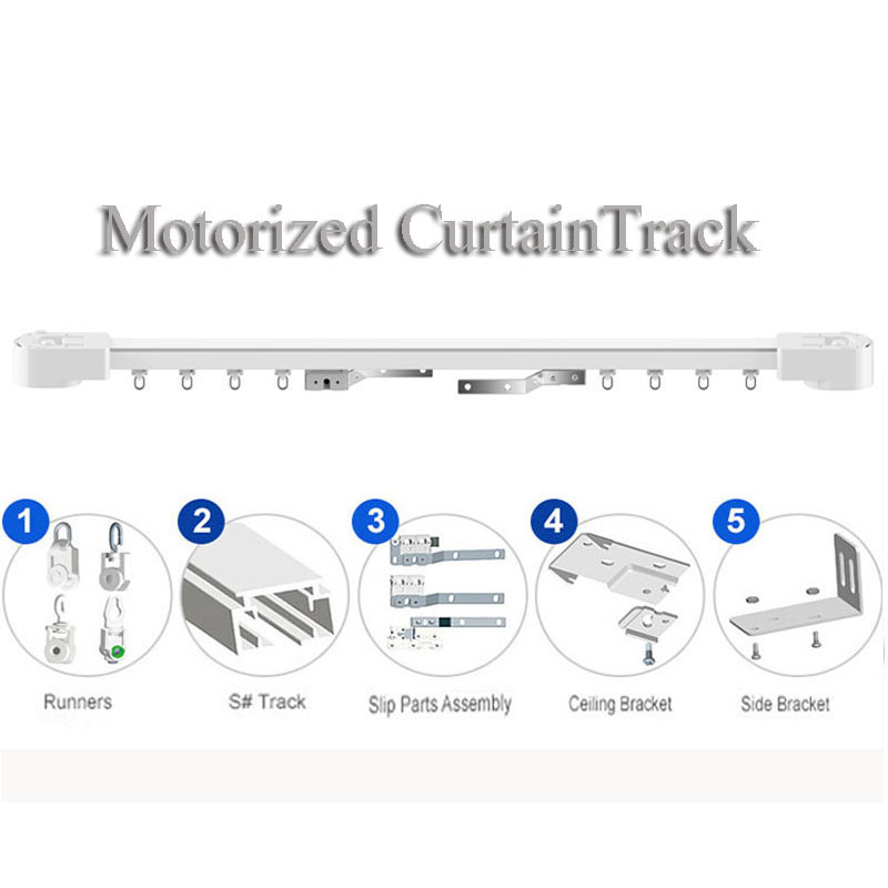 Dooya electric super quiet Motorizedcurtainrail,motorized curtain rail,Double track,remote control Curtain motor trackSmart hom