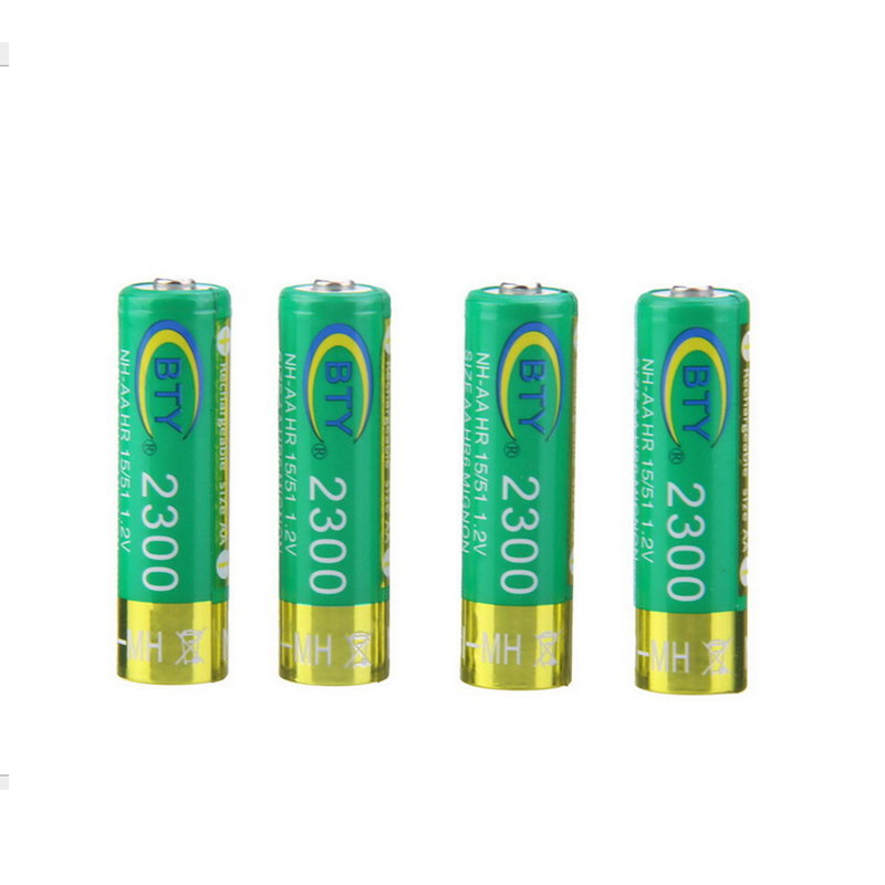 100pcs/lot NIMH Rechargeable AA Batteries 2300mAh 14500 Battery NI-MH 14500 Cell High Quality For Digital Camera Flashlight New