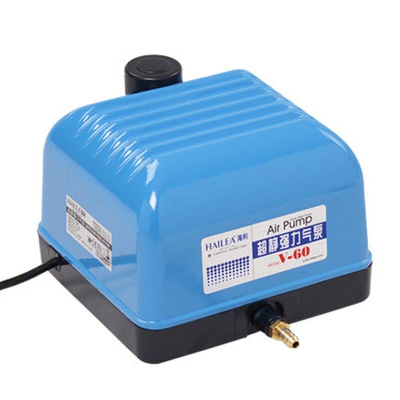 HAILEA V-60 35 W atmosphérique muet puissant pompe à oxygène pompe d'aération réservoir de poissons étang d'oxygénation poissons aquarium plus oxygène