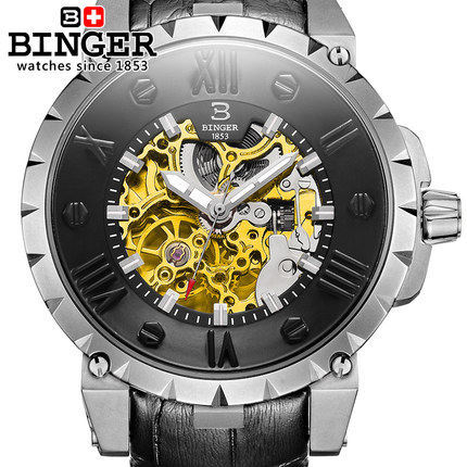 100% Original Men casual fashion Binger watches men luxury brand analog sports military wristwatch high quality Self-wind Watch binger genuine gold automatic mechanical watches female form women dress fashion casual brand luxury wristwatch original box
